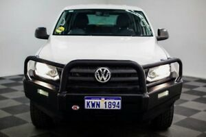 2013 Volkswagen Amarok 2H MY14 TDI420 4Motion Perm White 8 Speed Automatic Utility