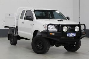 2007 Toyota Hilux KUN26R 07 Upgrade SR (4x4) White 5 Speed Manual Extracab Bentley Canning Area Preview