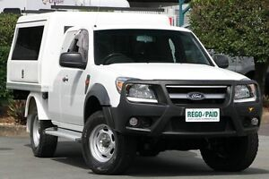 2010 Ford Ranger PK XL Super Cab Cool White 5 Speed Manual Cab Chassis Acacia Ridge Brisbane South West Preview
