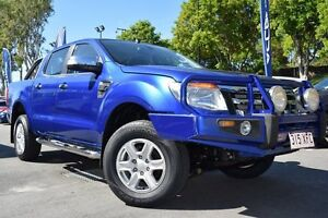 2012 Ford Ranger PX XLT Double Cab Blue 6 Speed Manual Utility Noosaville Noosa Area Preview