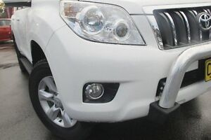 2013 Toyota Landcruiser Prado KDJ150R GXL Glacier White 6 Speed Manual Wagon