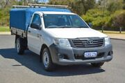 2014 Toyota Hilux TGN16R MY14 Workmate Double Cab 4x2 White 5 Speed Manual Utility Wilson Canning Area Preview