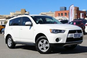 2011 Mitsubishi Outlander ZH MY11 LS White 6 Speed Constant Variable Wagon Northbridge Perth City Area Preview