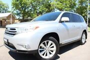2013 Toyota Kluger GSU45R MY12 Altitude AWD Silver 5 Speed Sports Automatic Wagon East Maitland Maitland Area Preview