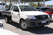 2014 Toyota Hilux TGN16R MY14 Workmate 4x2 White 5 Speed Manual Cab Chassis Osborne Park Stirling Area Preview