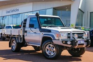 2010 Toyota Landcruiser VDJ79R MY10 GXL Silver 5 Speed Manual Cab Chassis Wangara Wanneroo Area Preview