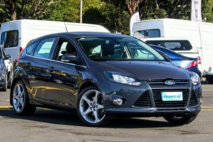 2011 Ford Focus LW Titanium PwrShift Blue 6 Speed Sports Automatic Dual Clutch Hatchback Heidelberg Heights Banyule Area Preview