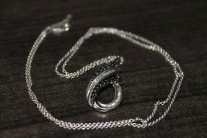 925 0.33CCTW Black Diamond Pendant w/ chain London Ontario image 1