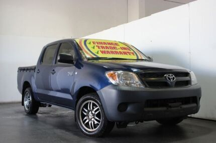 2007 Toyota Hilux TGN16R 07 Upgrade Workmate Blue 5 Speed Manual Dual Cab Pick-up