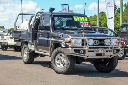 2012 Toyota Landcruiser VDJ79R MY10 GXL Graphite 5 Speed Manual Cab Chassis