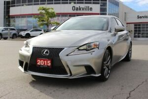 2015 Lexus IS 250 AWD F-Sport w/ Navigation, Blind Spot Monitori