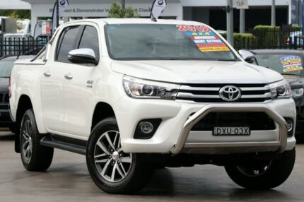 2018 Toyota Hilux GUN126R SR5 Double Cab White 6 Speed Sports Automatic Utility Penrith Penrith Area Preview