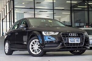 2015 Audi A3 8V MY16 Attraction Sportback S tronic Black 7 Speed Sports Automatic Dual Clutch Myaree Melville Area Preview