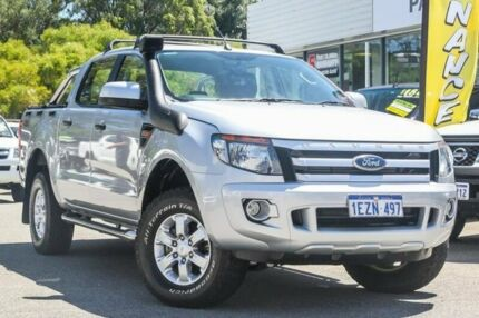 2013 Ford Ranger PX XLS Double Cab Silver 6 Speed Manual Utility