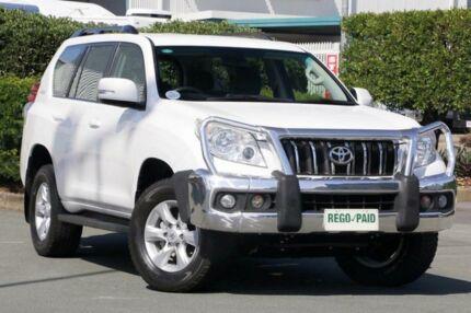 2011 Toyota Landcruiser Prado KDJ150R GXL Glacier White 6 Speed Manual Wagon