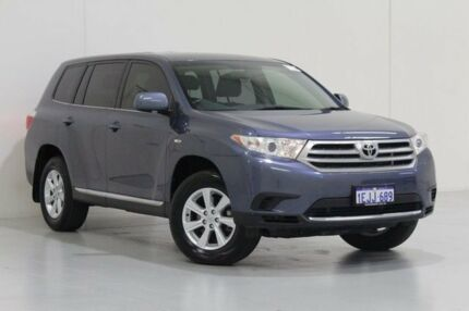 2013 Toyota Kluger GSU45R MY13 Upgrade KX-R (4x4) 7 Seat Blue 5 Speed Automatic Wagon Bentley Canning Area Preview
