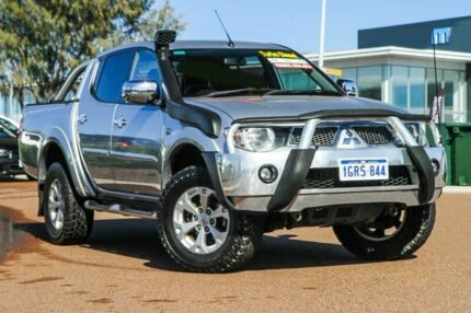 2013 Mitsubishi Triton MN MY14 GLX-R Double Cab Silver 5 Speed Manual Utility Rockingham Rockingham Area Preview