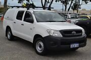 2010 Toyota Hilux TGN16R MY10 Workmate 4x2 White 5 Speed Manual Utility Wangara Wanneroo Area Preview