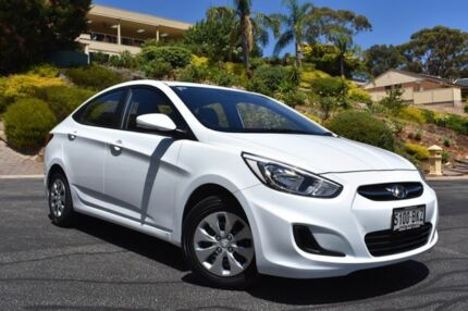2016 Hyundai Accent RB3 MY16 Active White 6 Speed Constant Variable Sedan St Marys Mitcham Area Preview