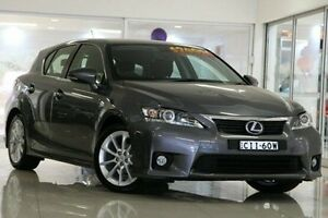 2012 Lexus CT200H ZWA10R X Grey 1 Speed Constant Variable Hatchback Waitara Hornsby Area Preview