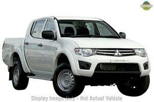 2014 Mitsubishi Triton MN MY15 GLX Double Cab White 4 Speed Sports Automatic Utility Wangara Wanneroo Area Preview