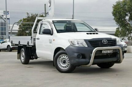 2014 Toyota Hilux KUN16R MY14 Workmate 4x2 White 5 Speed Manual Cab Chassis Kirrawee Sutherland Area Preview