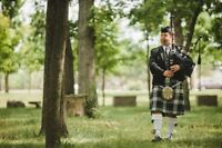 Bagpiper For Hire.