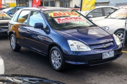 2002 Honda Civic 7th Gen MY2002 VI Blue 4 Speed Automatic Hatchback Ringwood East Maroondah Area Preview