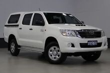 2013 Toyota Hilux KUN26R MY14 SR (4x4) White 5 Speed Manual Dual Cab Pick-up Bentley Canning Area Preview