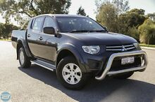 2010 Mitsubishi Triton MN MY11 GL-R Grey 4 Speed Automatic Dual Cab Utility Hillman Rockingham Area Preview