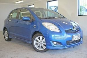 2011 Toyota Yaris NCP91R MY11 YRX Blue 4 Speed Automatic Hatchback Willagee Melville Area Preview
