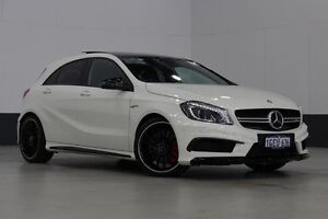 2014 Mercedes-Benz A45 176 MY15 AMG White 7 Speed Auto Dual Clutch Hatchback Bentley Canning Area Preview