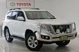 2013 Toyota Landcruiser Prado KDJ150R MY14 GXL Glacier White 5 Speed Sports Automatic Wagon Waterloo Inner Sydney Preview