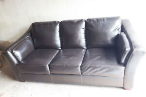 Gorgeous leather modern couch