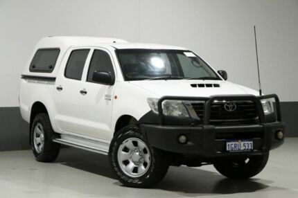 2014 Toyota Hilux KUN26R MY12 SR (4x4) White 5 Speed Manual Dual Cab Pick-up Bentley Canning Area Preview