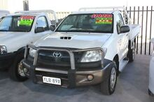 2005 Toyota Hilux KUN26R SR (4x4) White 5 Speed Manual Cab Chassis Mitchell Gungahlin Area Preview