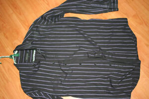 Men's Size Large Blk with Purple pinstripe Shirt London Ontario image 1