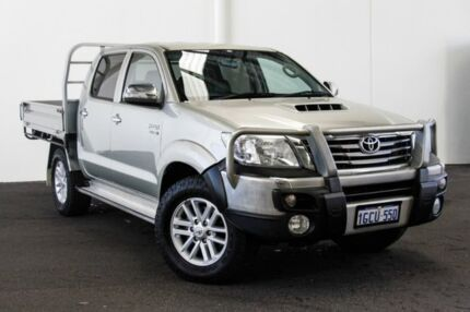 2013 Toyota Hilux KUN26R MY12 SR5 Double Cab Sterling Silver 4 Speed Automatic Utility Rockingham Rockingham Area Preview