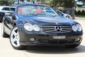 2002 Mercedes-Benz SL500 R230 Obsidian Black 5 Speed Auto Touchshift Convertible Belmore Canterbury Area Preview