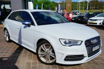 2014 Audi S3 8V MY14 Sportback S tronic quattro White 6 Speed Sports Automatic Dual Clutch Hatchback Pearce Woden Valley Preview