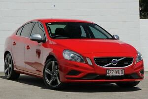 2013 Volvo S60 F Series MY14 T6 Geartronic AWD R-Design Passione Red 6 Speed Sports Automatic Sedan Currimundi Caloundra Area Preview