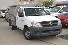 2007 Toyota Hilux TGN16R MY07 Workmate White 5 Speed Manual Cab Chassis Buderim Maroochydore Area Preview