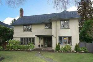 Lovingly cared FURNISHED 4 bdrm Shaughnessy family home in VW