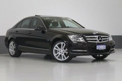2012 Mercedes-Benz C250 W204 MY12 Avantgarde BE Black 7 Speed Automatic G-Tronic Sedan Bentley Canning Area Preview