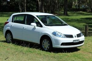 2008 Nissan Tiida C11 MY07 ST White 4 Speed Automatic Hatchback Port Macquarie Port Macquarie City Preview