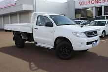 2008 Toyota Hilux KUN26R MY09 SR White 5 Speed Manual Cab Chassis Balcatta Stirling Area Preview