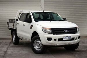 2012 Ford Ranger PX XL Double Cab 4x2 Hi-Rider White 6 Speed Sports Automatic Cab Chassis Seaford Frankston Area Preview