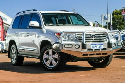 2015 Toyota Landcruiser VDJ200R Sahara White 6 Speed Sports Automatic Wagon Cannington Canning Area Preview
