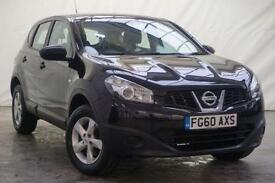 2010 Nissan Qashqai 1.6 VISIA 5d 117 BHP Petrol black Manual