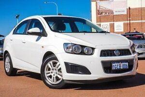 2013 Holden Barina TM MY14 CD White 5 Speed Manual Sedan Fremantle Fremantle Area Preview